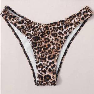 SHEIN Leopard Print Cheeky Bikini Bottoms